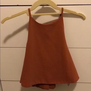 Lovers and Friends orange cropped top